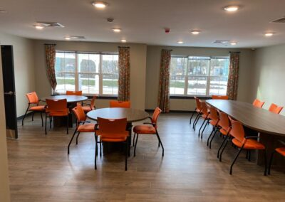Orange Community Room with 9to5 chairs
